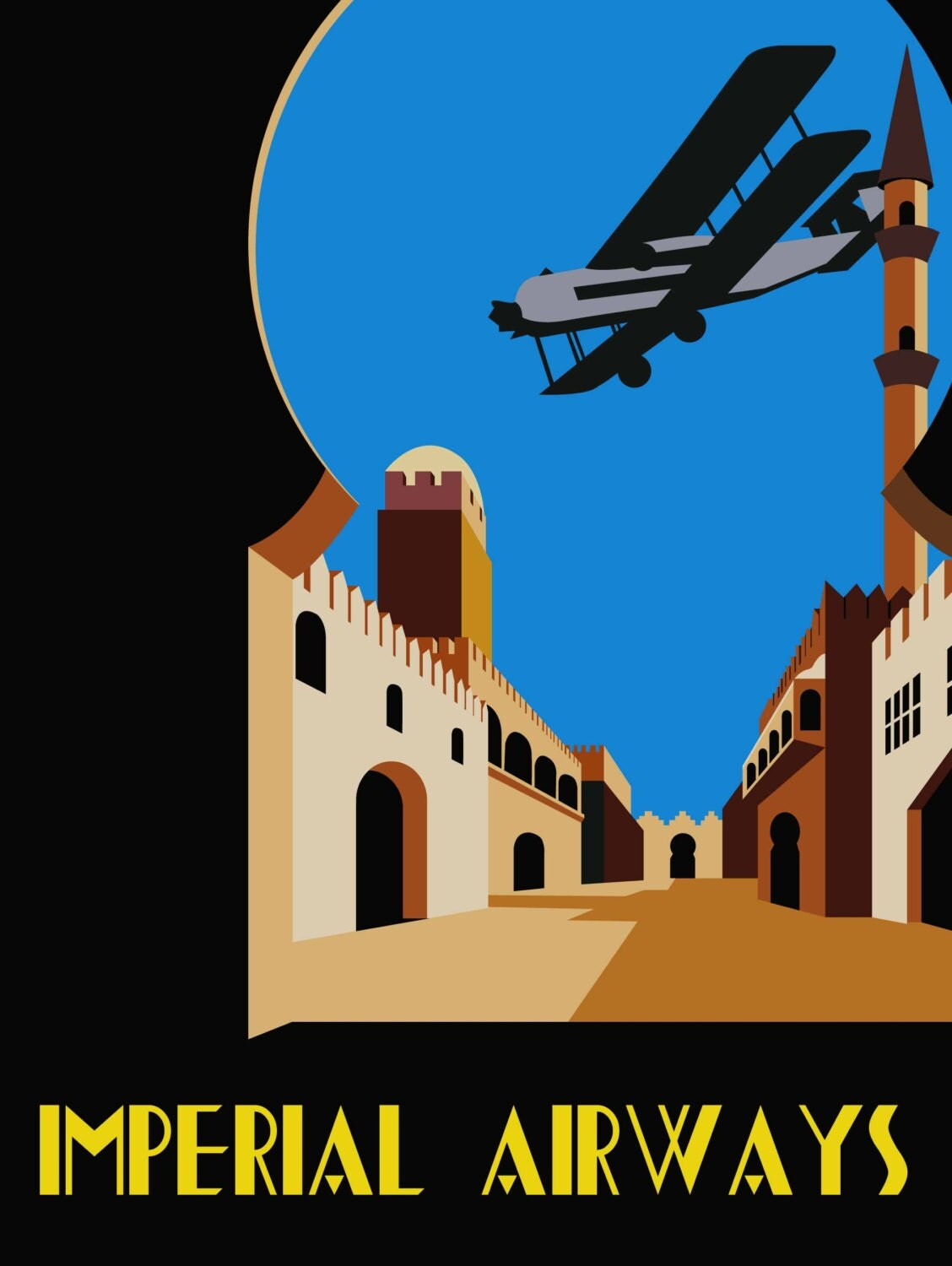 Imperial airways poster print for Imperial printing