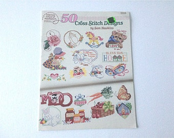 Cross Stitch Designs, Patterns for Hearts, Rose Pattern, Bears Pattern, 50 Patterns