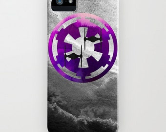 Star Wars Purple Imperial Cog and Tie Fighters iPhone or Samsung Galaxy Case, iPhone SE, iPhone 7, iPhone 6S, Galaxy S7, iPhone 6 Plus