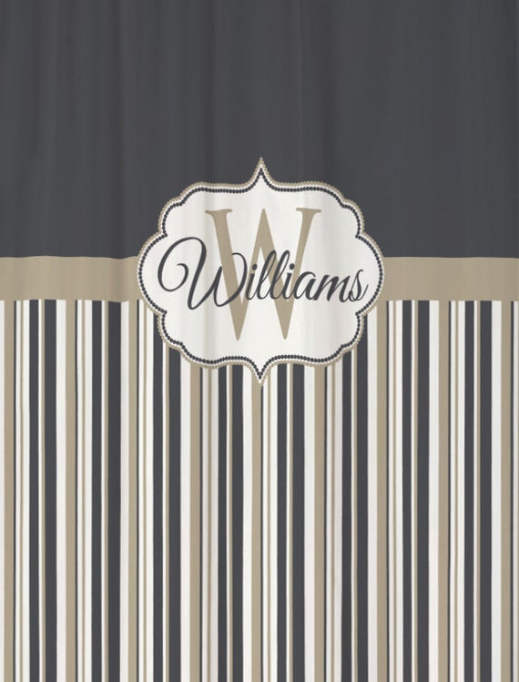 shower curtain stripes you choose colors 70 by swirledpeasdesigns. Black Bedroom Furniture Sets. Home Design Ideas