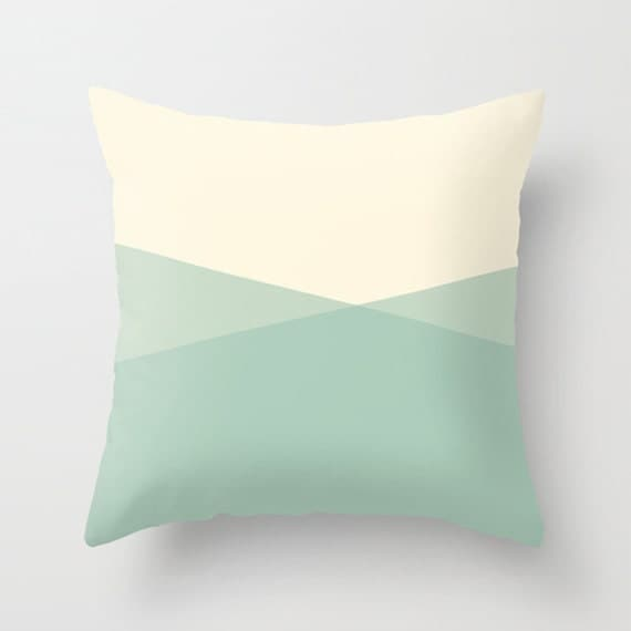 Abstract Ocean Throw Pillow Cover, Seafoam Pillow, Decorative Throw Pillow Cover, Mint Green Pillow, Sofa Pillow by Lily and Jude
