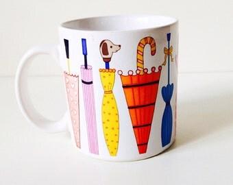 Vintage umbrella mug