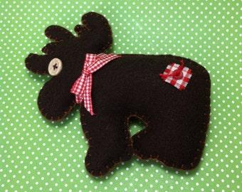 Moose Felt Doll/Ornament