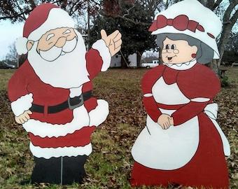 """48"""" Santa and Mrs Santa Christmas Decorations Yard Art"""