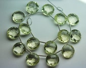 5 Matched Pair,AAA Natural LEMON Quartz Faceted Match Coins Briolettes 12mm,Calibrated Size