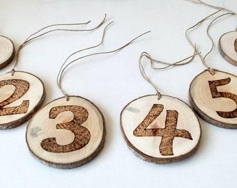Wood Burned Numbers Etsy