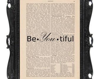 Be You Tiful: Dictionary Art Print