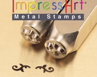 Metal Flourish Design Stamp Ends- Steel Stamp- Metal Stamp 6MM- Metal Stamping Supplies- Jewelry Design Metal Work-  SGSC1511-K-6mm