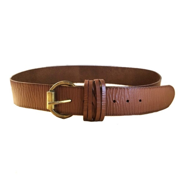 Tan LEATHER BELT, tribal Fusion belt, wide leather belt, ceinture de cuir, leder gürtel