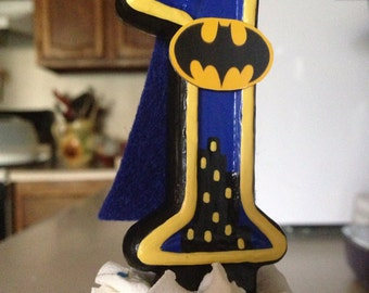 3 inch tall Hand painted Super-hero birthday candle - any number and superhero