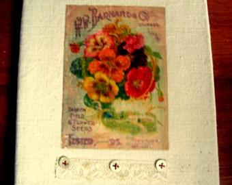 Romantic Cover for a Diary, Garden Journal, Poetry book, etc./ Couvre livre pour un journal de jardin, de voyage, etc.
