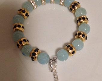 Sky-Blue Rhinestone bracelet