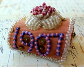 Antique Iroquois Beaded Pin Cushion Whimsy Native American Souvenir