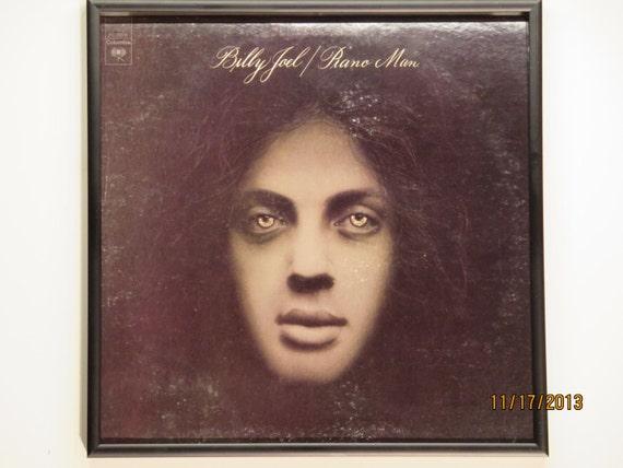 Glittered Record Album - Billy Joel - Piano Man