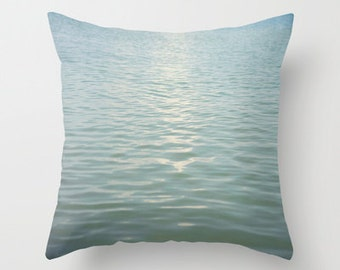 Aqua Seas -  Pillow Cover -  Apartment, Dorm, Home, Decor, Nursery, Photography, blue, Whimsical, Pastel, turquoise, Unisex, Cottage, Chic
