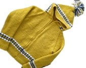 Child's zipped ARGYLE HOODIE custom made in Goldenrod yellow and Royal blue, also pink and raspberry or other color combinations