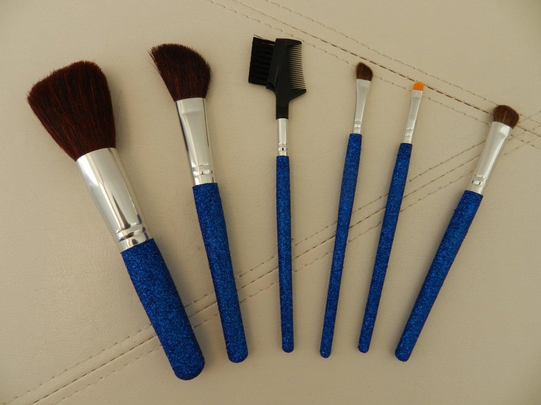 READYTOSHIP ROYAL BLUE Glitter Makeup Brush by ArtsyModernChic