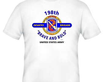 198th Infantry Brigade & Vietnam War. U.S. Army Vietnam Veteran Unit And Operation  2-Sided Shirt