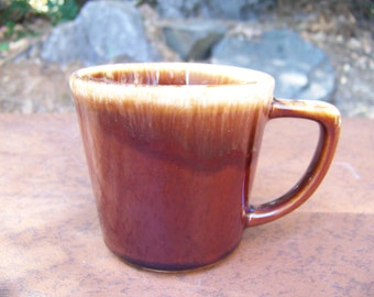 drip glaze McCoy coffee cup