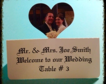 Personalized Photo Place Cards