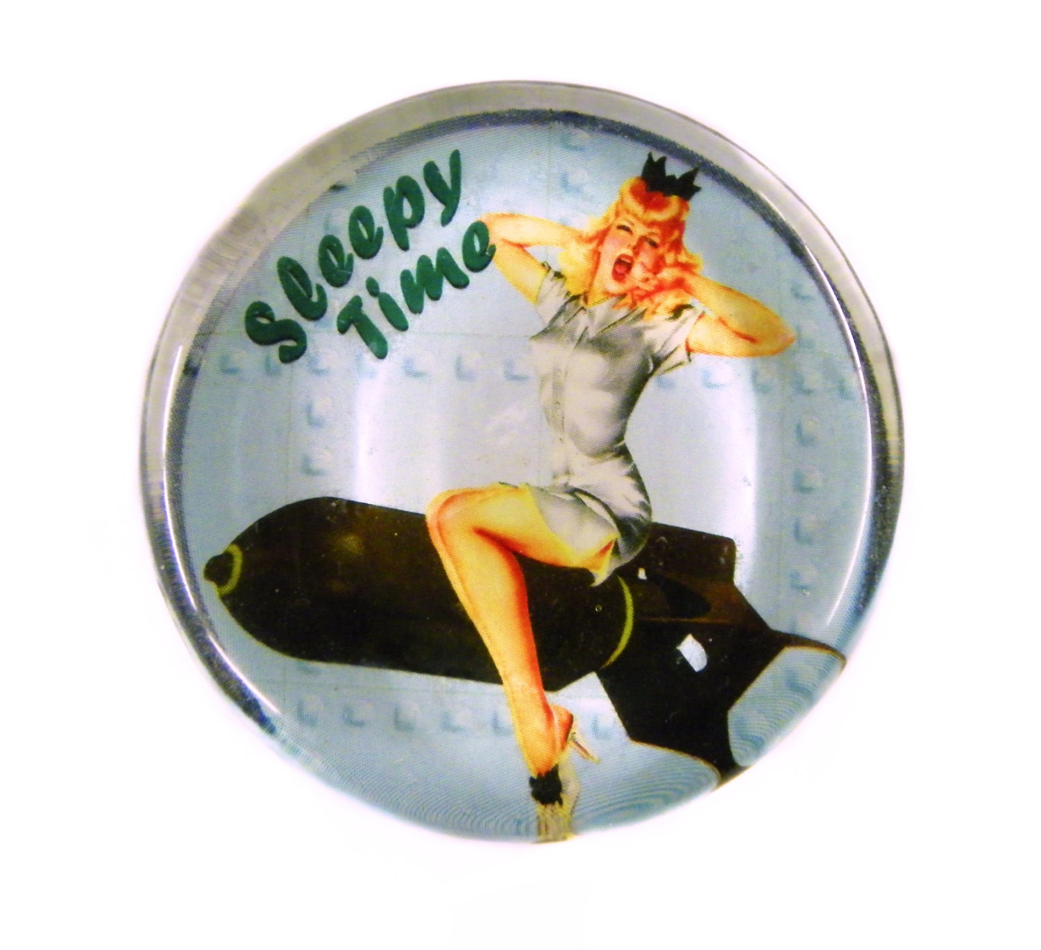 Art Of The Pinup: WWII Retro Nose Art Vintage Pinup Pin-Up Vintage Style Glass