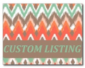 CUSTOM LISTING FOR Lacey D.