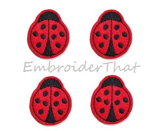 UNCUT Lady Bug beetle applique embellishment felties (4)