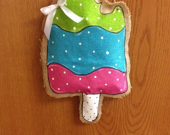 Popcicle Burlap Door Hanger