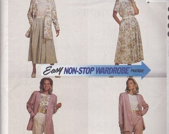 McCalls 6338 Vintage Pattern Womens Unlined Jacket, Top, Skirt and Pants  Size 16,18,20 UNCUT