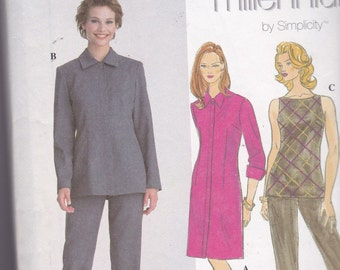 Simplicity 8837 Vintage Pttern Womens Slim Dress, Top, Pants and Jacket Size 8,10,12,14