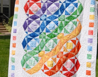 Rainbow Waves Quilt