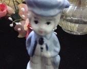 vintage, 'little boy blue', porcelain figurine