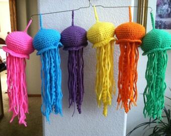 Crocheted Hanging Jellyfish