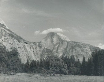California mountain range antique art photo M. Outcalt