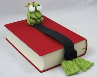 Amigurumi Crochet Pattern - Henri le Frog Bookmark