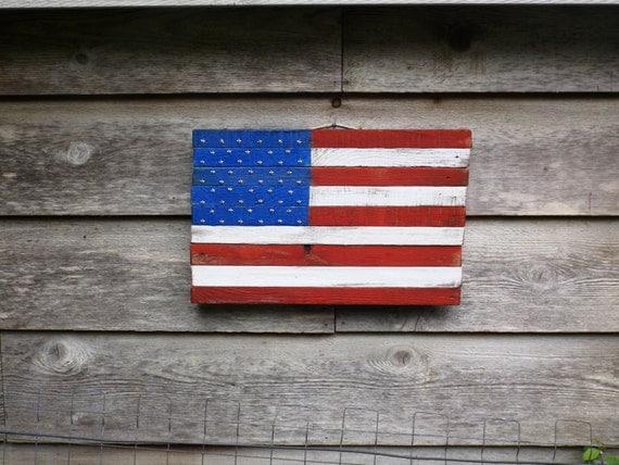 Items similar to wood flag rustic american decor patriotic American flag wood wall art