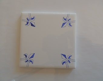 Delft Tiles Blue and White Tiles_Blue Wall Decor_Delft Corner Motif Design_Fleur De Lis Tiles_Delft Style