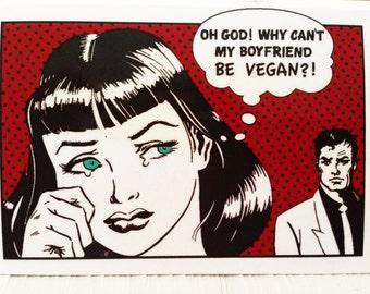 5 Vegan Stickers / Why can't my boyfriend be vegan