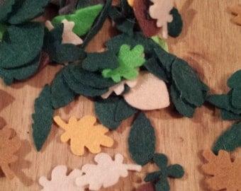 Felt diecut Mini various Leaves toppers appliqué Sizzix decoupage Craft Scrap