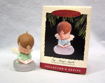 Mary's Angel- JOY Hallmark Keepsake Ornament -Mary Hamilton (1993 NIB)