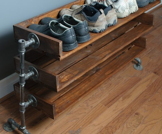 Like this item. Handmade Reclaimed Wood Shoe Stand   Rack   Organizer with
