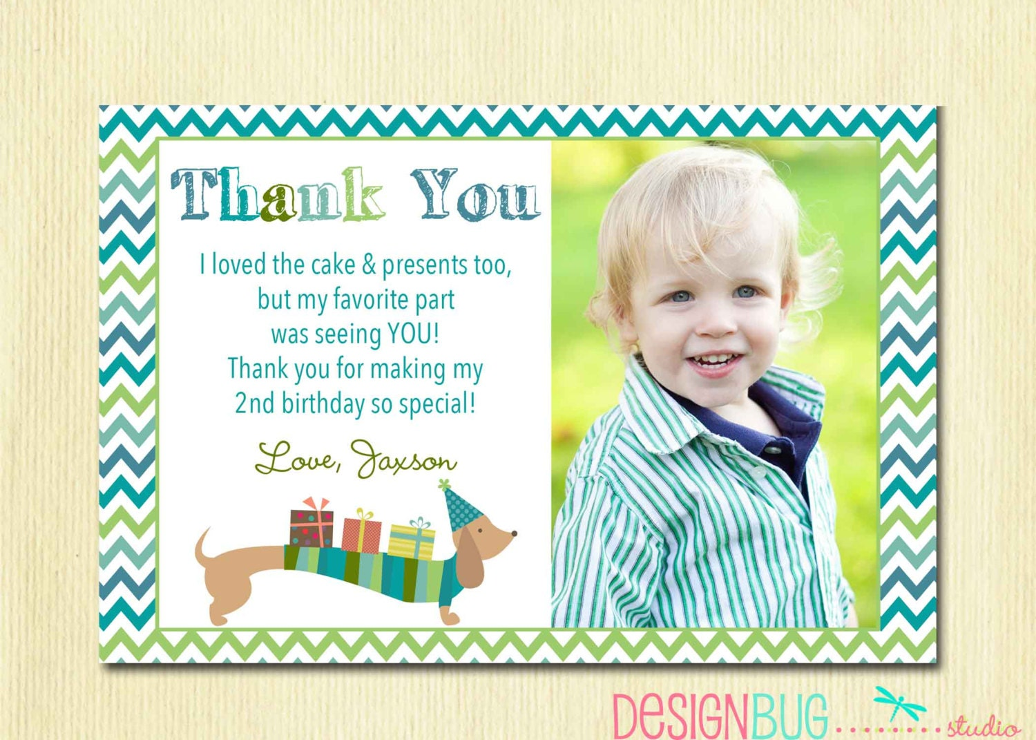 First Birthday Matching Thank You Card 4x6 The Big ONE DIY – 1st Birthday Thank You Cards