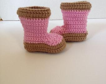 Crochet Baby Booties, Xtratuf, 0-3 Months
