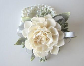 Dahlia Wristlet Corsage - Traditional Wrist Corsage - Keepsake Wrist Corsage - Prom Corsage - Mother's Corsage -