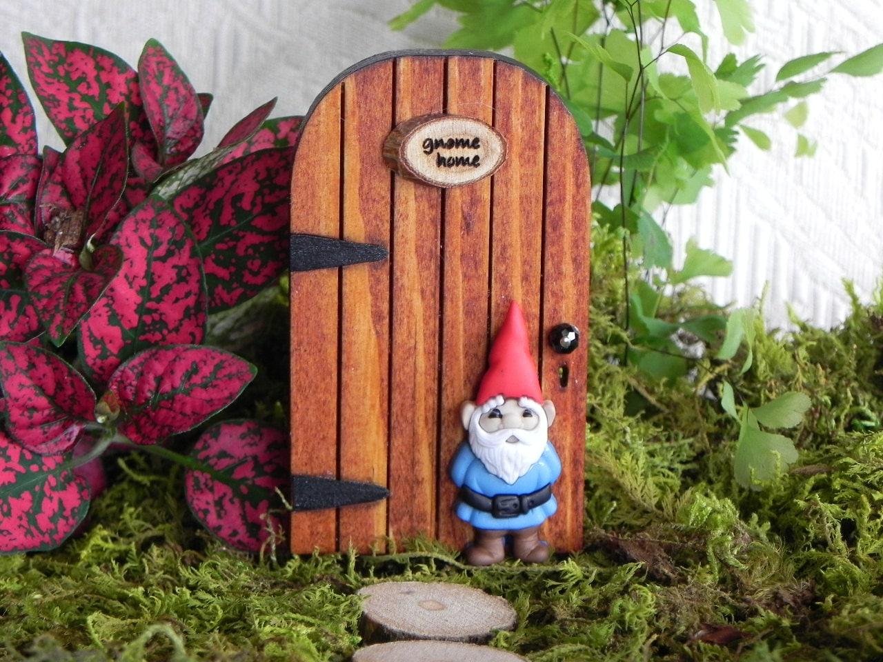 Gnome Garden: TINY Gnome Door For Miniature Garden Accessories For Terrarium