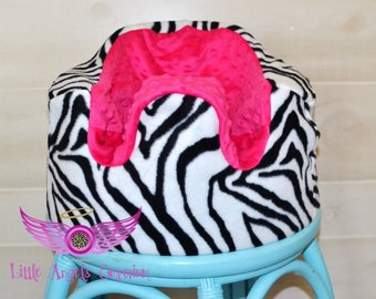 Pink and Zebra Bumbo Seat Cover
