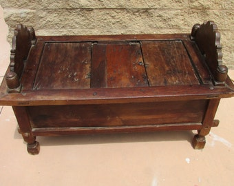 High Quality Vintage Indonesian Wooden Dowry Chest Trunk Storage