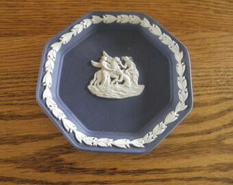 Wedgewood Jasperware Plate Dark Blue