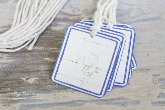 Vintage French Label Gift Tags