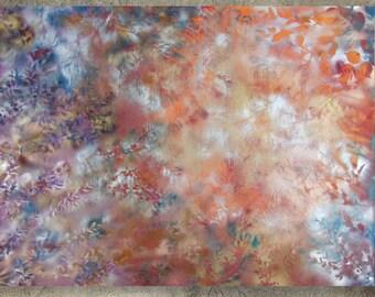 "120x160cm Large Floral Painting ""Morning fog"" Modern Acrylic on canvas wall art Deco KSAVERA decor for Lounge office sleeping room bedroom"